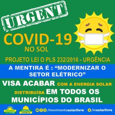 RECURSO NO SENADO FREIA Projeto de Lei que beneficia as Distribuidoras e Mata a Energia Solar.