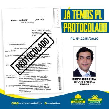 Beto Pereira apresenta PL criando Sistema de Compensação de Energia Elétrica (SCEE) regulamentando a distribuição de energia solar
